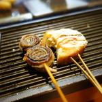 串イッカ - 豚肉と海苔のミルフィーユ、海老パン