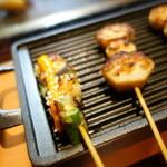 串イッカ - 山芋磯辺焼き、イカとオクラ海栗ソース