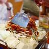 東岡崎 明月 - 料理写真:とんちゃん焼焼き途中