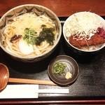 ひだりや - ミニソースカツ丼セット¥850