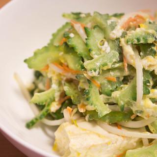 県産食材を使用した沖縄料理