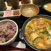 百菜 - 料理写真:肉豆腐の卵とじ定食