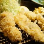 あげづき - 鳥取県産の地鶏フライ(1300円)(2014/10)