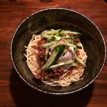 深夜カリー Gorgo - 汁なしカレー麺  きゅうり/温玉トッピング