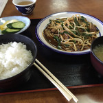湯乃国茶屋 - 料理写真:ニラレバ定食