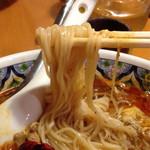 中国ラーメン揚州商人 - 細麺(柳麺)はこんな感じです! 細麺(柳麺)or太麺(刀切麺)が選べます!