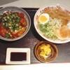 ラーメンココいち - 料理写真:ネギカツ丼セット1100円+税(ココいちラーメンは中華そばに変更)