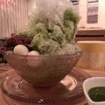 38951136 - 自家製ソースのふわふわかき氷・抹茶(2015/6)