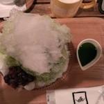 38951140 - 自家製ソースのふわふわかき氷・抹茶(2015/6)