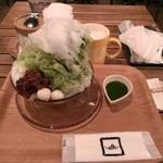 38951143 - 自家製ソースのふわふわかき氷・抹茶(2015/6)