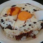 梁山泊 - 地元民が愛する焼豚卵飯550円♡梁山泊の焼豚卵飯は観光ガイドに載ってない穴場♬デリシャスでボリミー