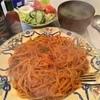 ヤグマ - 料理写真:ナポリタン:味噌汁/サラダ/フルーツ付きで770円