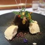 レストラン マノワ - ビターチョコレートとアイス