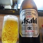 みのや - 瓶ビール(中)¥450