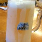 浜の家 - キンキンのビール美味しい♪