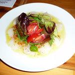 アローラ - 天然鯛のカルパッチョ/野菜のドレッシングソース