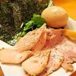 ムタヒロ - ③ガハハ鶏特製そば(特製の具は別皿盛り)