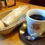 コメダ珈琲店 - 2014年11月 たっぷりアメリカンコーヒー+モーニングサービス【500円】