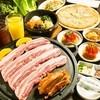 韓国家庭料理 トマト - 料理写真:삼겹살세트