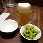 麺場居酒屋 ラの壱 - 2015.06 生ビールを飲んでいます。