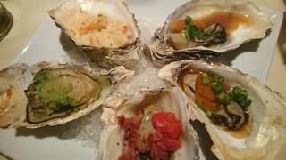 ザ オイスタールーム - 5種類のお料理で牡蠣が楽しめるプレート
