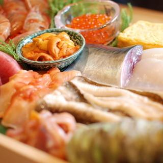 鮮度命の新鮮な寿司ネタ
