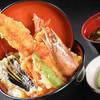 どんと屋 - 料理写真:特大天然大車海老、大穴子、真鯛、蟹身入りの贅沢天丼