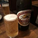 白肉屋 - とりあえず瓶ビール