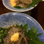 司 - どろめの酢味噌とポン酢