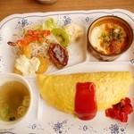 レストラン ポポロ - オムセット