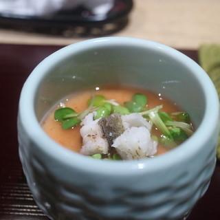 越乃 - 料理写真:焼きはもの茶わん蒸し