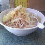ラーメン二郎 - 小ラーメン+ニンニク+野菜多め+醤油多め(080201)