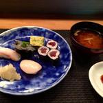 風凛 - 握り鮨、味噌汁