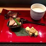 風凛 - ミニ小江戸コースの先付、前菜、茶碗蒸