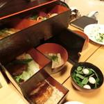 八沢川 - 野点弁当② 引き出しのそれぞれ