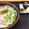うどん処幸 - 料理写真:かやくうどん350円、おにぎり150円