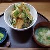 和彩 あきら - 料理写真:たちうお香梅揚げ丼(味噌汁・漬物付、税別900円)