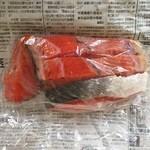 新南樽市場 - 紅鮭甘塩、1000円です。