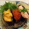 海鮮三崎港 - 料理写真:人気軍艦トリオ450円