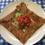 ルマロン - 料理写真:Basile〜バジルとチーズとハムとトマトのガレット