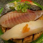 39225696 - 地魚3貫盛り(太刀魚・メダイ・アブラボウズ)