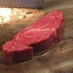 神楽 - 国産牛のフィレステーキ♪