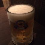 五十棲 - 生ビール(550円)