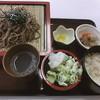 ひだか - 料理写真:ざるそばと炊き込みご飯のセット