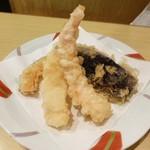 天ぷら ふそう - お昼定食 840円(14時まで・税込)エビ・かぼちゃ・ナス・玉ねぎ