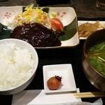 さつま古謝 - 黒豚ハンバーグ定食