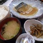 とりあえず逢海 - サバの味噌煮定食