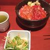 魚春 - 料理写真:本日の丼物(黄身正油のまぐろ漬丼)