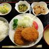 藤吉郎 - 料理写真:メンチコロッケ定食