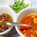 山西亭 - 莜麺栲栳栳のソース